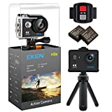 EKEN H9s 4K Action Camera, Full HD Wifi Waterproof Sports Camera with 4K25/ 1080P60/ 720P120fps Video, 12MP Photo and 170 Wide-Angle Lens, includes 17 Mountings Kit, 2 Batteries (Black)