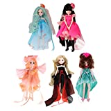 MonkeyJack 5 Sets Flexible 30 Joints Ball Jointed Vinyl Doll in Costume Toy Birthday Gift 27cm