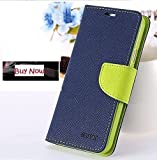 Golden River Luxray & Stylish Cover For Micromax Canvas 6 Pro Flip Cover & Diary Wallet Case Blue