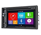 Power Acoustik Car Audio 2-Din Touchscreen DVD CD Player With GPS And Bluetooth