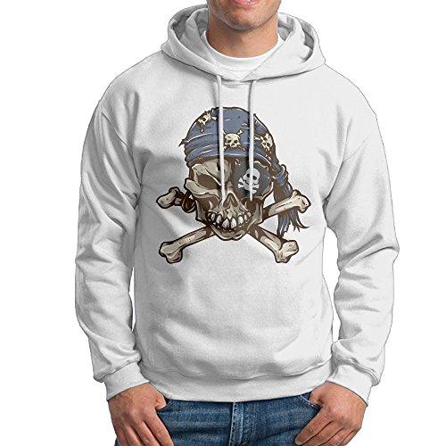 Kula Men's Leisure One-eye Pirate Hoodies XXL White