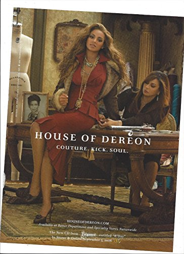 **PRINT AD** With Beyonce In Red Dress For House of Dereon 2006**PRINT AD** - Dereon Dress