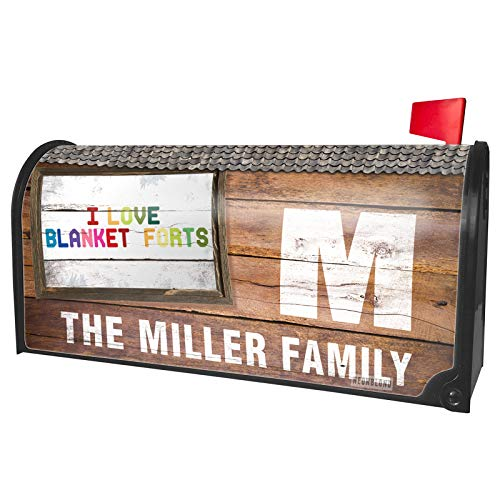 NEONBLOND Custom Mailbox Cover I Love Blanket Forts,Colorful