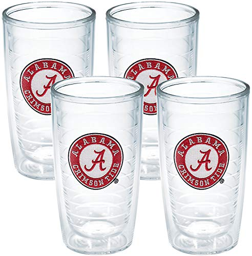 (Tervis Tumbler University of Alabama 16-Ounce Double Wall Insulated Tumbler, Set of 4 )