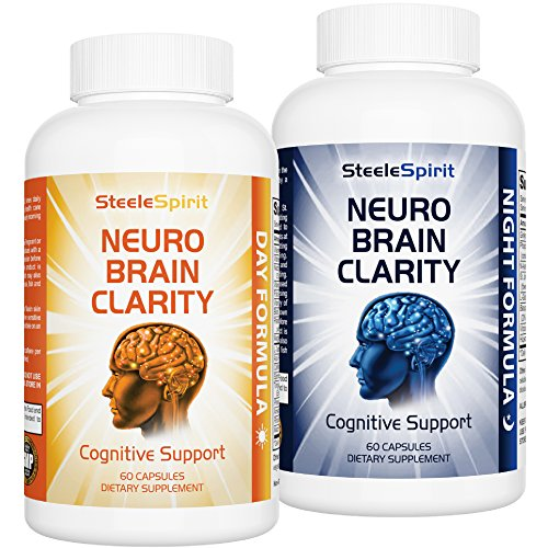 2 x Brain Supplements Healthy Brain Pills – Day & Night Nootropics Formula – For Brain Fog, Brain Health, Memory, Focus, Energy – Gives Your Brain The 24hr Support It Needs – By Steele Spirit Review