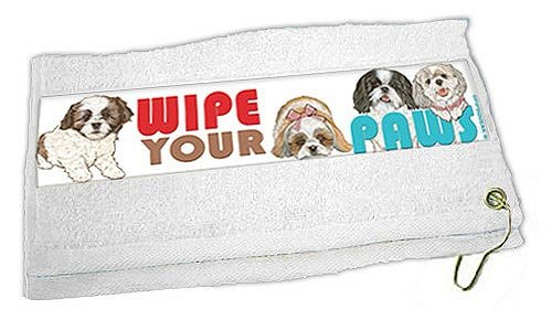 Shih Tzu Paw Wipe Towel by Pipsqueak
