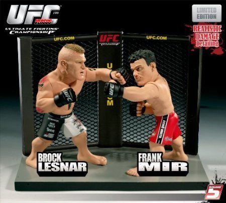 Round 5 UFC Versus Series 1 LIMITED EDITION Action Figure 2Pack Brock Lesnar Vs. Frank Mir UFC 100 by Round 5 Ultimate Fighting Championship Toys
