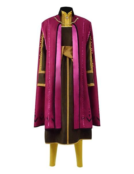 Amazon.com: BelieveME Arendelle - Disfraz de princesa Anna ...