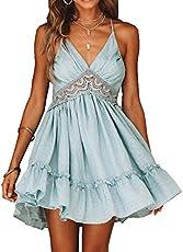 a9e6478859 Lace v neck skater dress