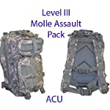 Level III Lv3 Molle Assault Pack Backpack--ACU