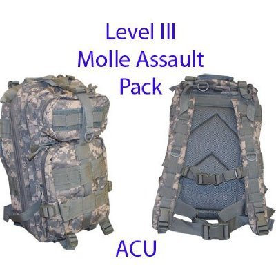 Level III Lv3 Molle Assault Pack Backpack–ACU Review