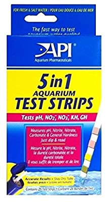 5in1 Aquarium pH Test Strips Nitrite Nitrate GH KH with Color Charts