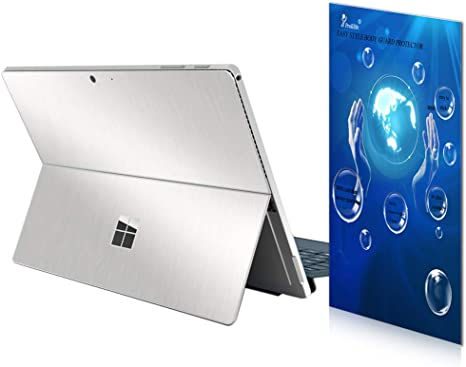Silver Metallic Texture Decoration Surface Protective Cover Sticker Accessories for Surfacepro 7 12.3 Inch Back /& Lateral Sides ProElife Ultra Slim Decal Skin for Surface Pro 7 2019