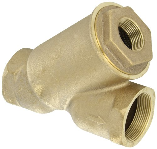 Apollo Valve 59 Series Bronze Y-Strainer with Tapped Cap, 2'' NPT Female, 20 Mesh Screen by Apollo Valve