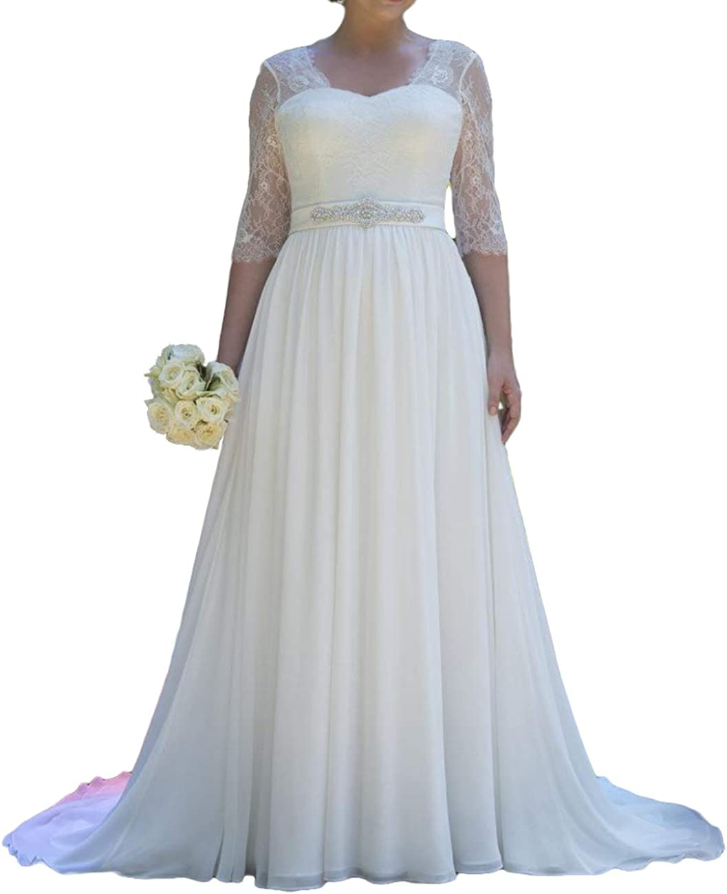 Japan Maker New Wedding Dresses for Bride Lace Dress Beach Chicago Mall Bridal Ch Gowms