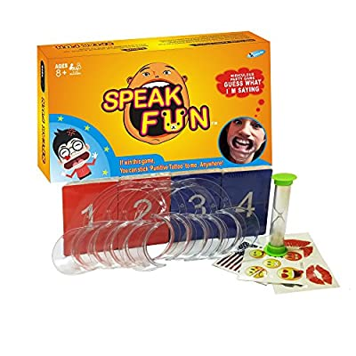 Mouthguard Challenge Game ,Speak Fun Party Game Cheek Retractor Mouthpiece Game Phrase Card Board Game for Family Game - HOWADE