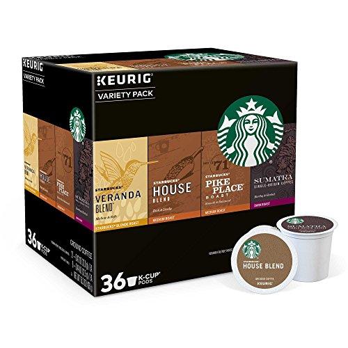 Starbucks Coffee K-Cups for Keurig Brewer Variety Pack (36 Deem)