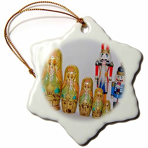 (OneMtoss Roni Chastain Photography Golden Russian Stack Family and Nutcrackers Snowflake Porcelain)