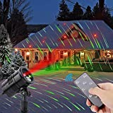 Yinuo Projector Christmas Laser Lights- IP65 Waterproof with RF Wireless Remote, Red and Green Star Show for Christmas, Party, Landscape and Garden Decorations Red and Green