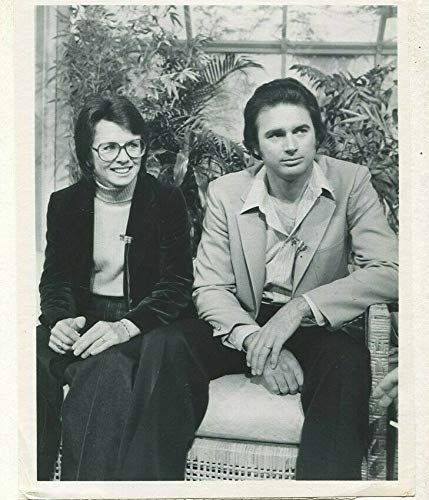 Billy Jean King,Randy Moffitt (Brother) 1979 movie press photo -