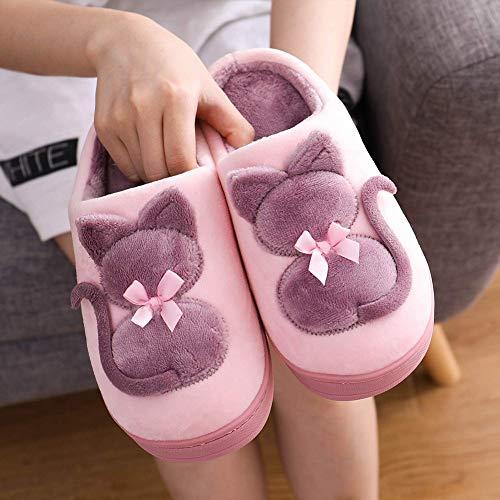 Hiver Mules Accueil Femme Homme Intérieure Pantoufles Chaussons Peluche Jdxl Doublure 003 Chaussures Douce Coton Slippers 1Sxdxq