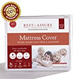 Twin Size Instyle Furnishing Premium 100% Waterproof Mattress Protector, Hypoallergenic, Breathable Soft Cotton Terry Mattress Cover, Protects Against Dust Mites, Allergens, Bacteria, Mold, Mildew, and Fluids, 10 Year Warranty.