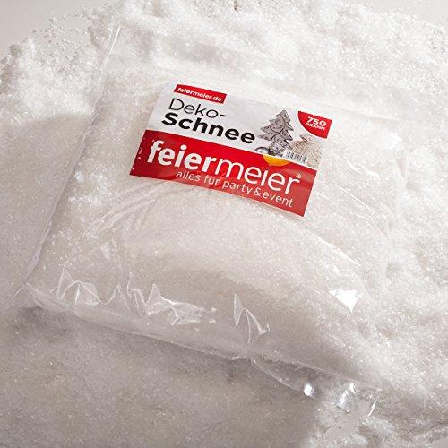 Kunstschnee im Beutel 750g - funkelnd glitzernder Dekoschnee Schnee Pulverschnee