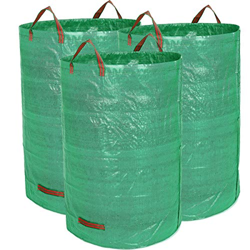 FlowFly Garden Waste Bags Reusable and Collapsible Lawn Leaf Container 3 Pack 32 Gallons (3 x 32 Gallons)