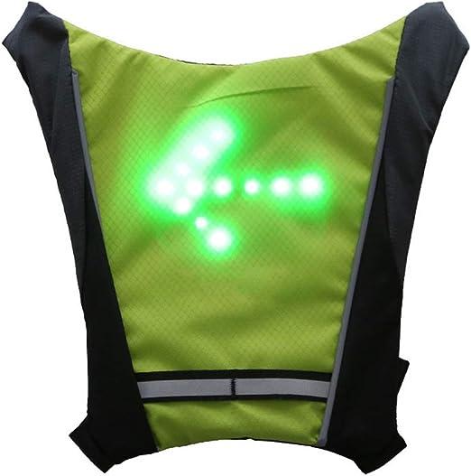 Caminar o Correr Correr Mallalah Chaleco de Ciclismo RC LED Intermitente Reflectante Mochila al Aire Libre Deporte Bolsa de Seguridad Gear para Ciclismo
