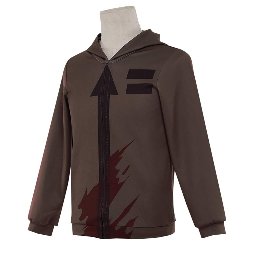 Amazon.com: starfun Angels of Death Zack Isaac Foster Hoodies Coat Halloween Cosplay Costume (Jacket+Pants): Clothing
