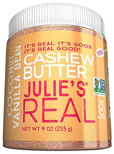 Julie's Real Cashew Butter, Coconut Vanilla Bean, Paleo Friendly - Gluten & Peanut Free - 9oz