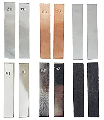Eisco Labs Iron Electrode Strips 100 x 19mm Pack of 10