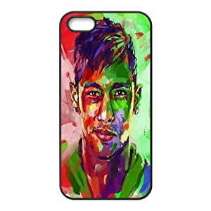 [Neymar Jr Series] IPhone 5,5S Cases Neymar Jr. Abstract Painting Watercolor, Case For Iphone 5s For Women Yearinspace - Black