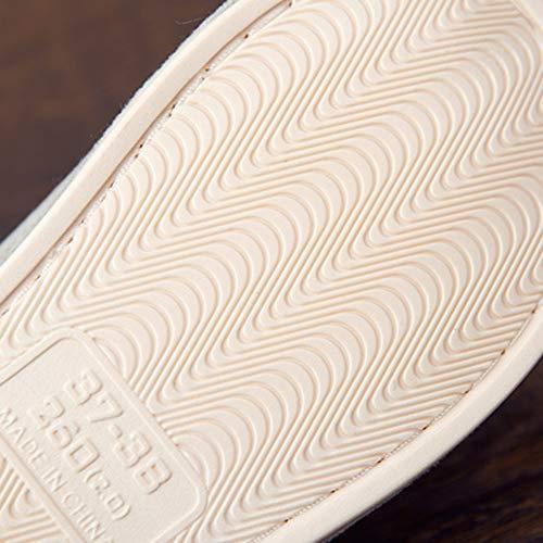 36 Velours Anti Et Green Intérieur Plancher dérapant Style Femme Fond 37yards Light Td Gray Hiver Bois Pantoufle couleur Japonais Pvc En Coton Taille Automne Pantoufles Maison xWnqTq81gw