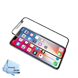 FrenzyDeals 3D HD Tempered Glass Screen protector for iPhone X with 3D touch Compatibility (Black) + Microfiber Cloth