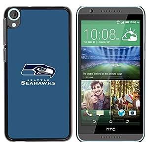 Seahawk - Metal de aluminio y de plástico duro Caja del teléfono - Negro - HTC Desire 820