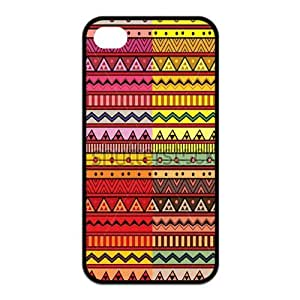 Customized Hot Aztec Tribal Pattern Rubber Back Protector Cover Case for iPhone 4 4s TPU