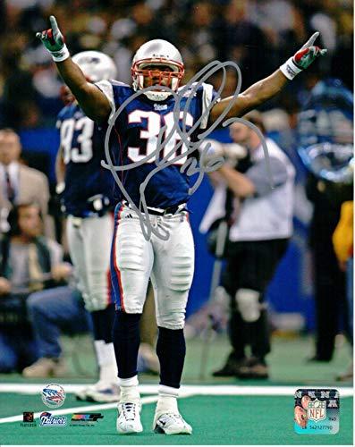 Bowl Super Nfl Autographed (Autographed Lawyer Milloy Picture - 8x10 Super Bowl XXXVI - Autographed NFL Photos)