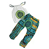 FEITONG 2017 Little Kid Girls' Clothes, Toddler Kids Baby Girls Summer T-Shirt Tops+ Pants Suit Outfit (3-4 Years, Green)