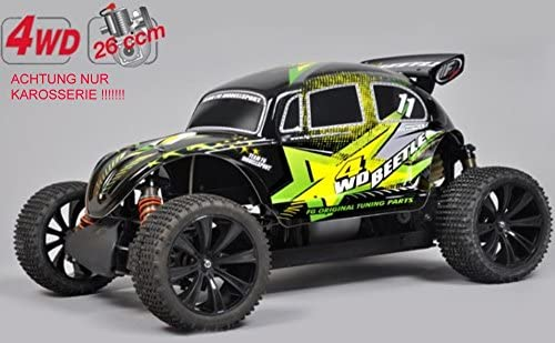 T2M FG 1:5 4WD Beetle Pro WB535 Body + Rear Spoiler Laminated Painted FT9®: Amazon.es: Juguetes y juegos