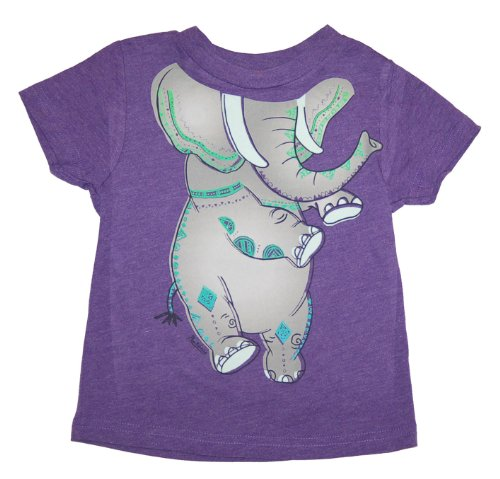 Peek A Zoo Toddler Become an Animal Short Sleeve T shirt - Elephant Purple Heather (3T) (Toddler Purple Character T-shirt)
