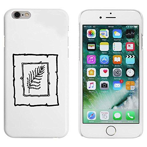 Blanc 'Motif Feuille' étui / housse pour iPhone 6 & 6s (MC00022618)