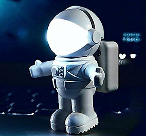 Astronaut Spaceman USBミニLED調節可能なホワイトNight Light for PCコンピュータReading   B075W97CKV