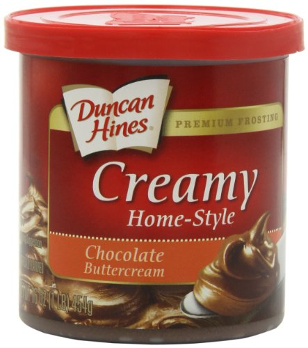 Duncan Hines Creamy Home-Style Frosting, Chocolate Buttercream, 16 Ounce (Pack of (Creamy Chocolate Frosting)