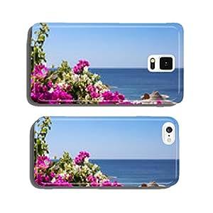 Sea, bougainvillea and beach umbrella cell phone cover case Samsung S6