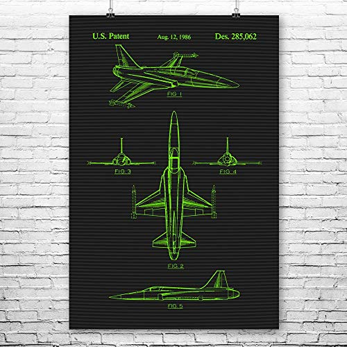 Patent Earth F-20 Tigershark Poster Print, Fighter for sale  Delivered anywhere in USA