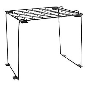 amazon com stackable locker shelf black office products rh amazon com