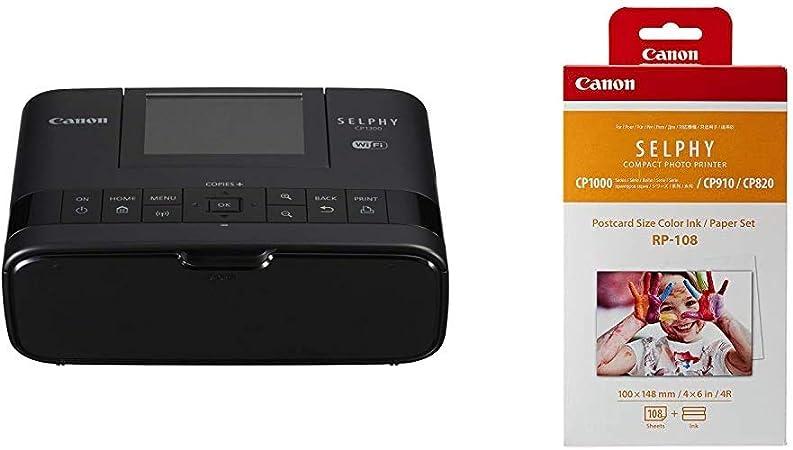 Canon Selphy Cp1300 Fotodrucker 10x15 Cm Schwarz Kamera