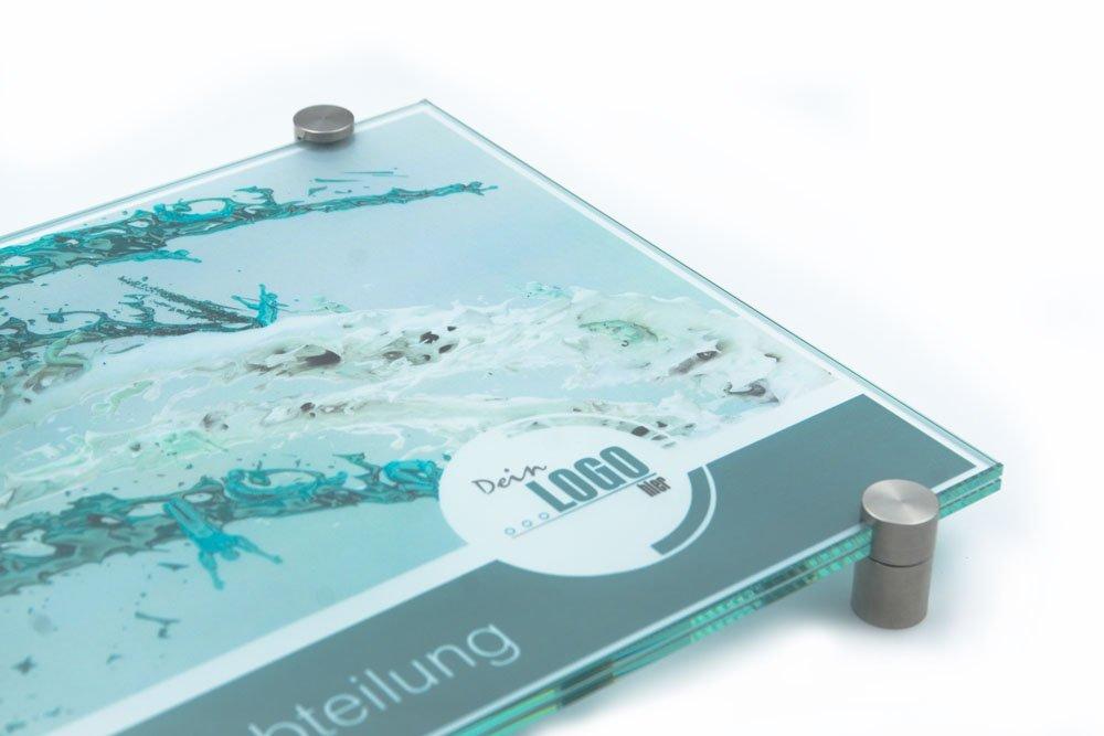 Klemmhalter 200//200 mm T/ürschild Glas,Vitrum K