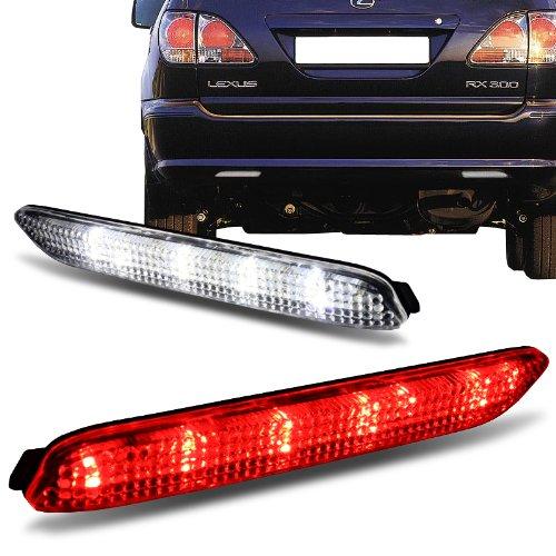 Lexus IS-F GX470 Toyota Sienna Matrix Venza Avalon Clear Lens LED Bumper Reflector Lights